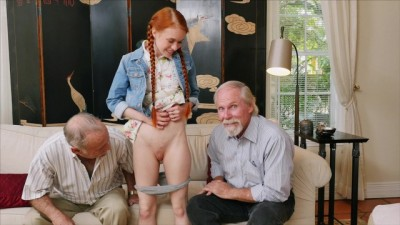 Old Guys Frankie and Duke Play With Petite Dolly Little