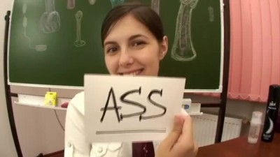 Anal lesson in classroom
