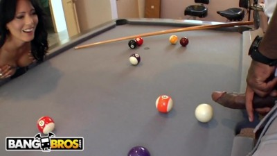 Plays With Rico Strong's Big Black Pool Stick Dick