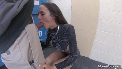 Busty MILF Sex and Street for Blowjob PUBLIC