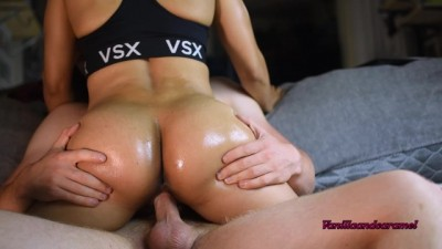 Big Oiled Ass Loves Riding Cock