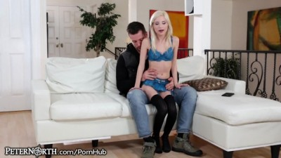 Hottie Blonde Piper Perri Rides Daddy Cock
