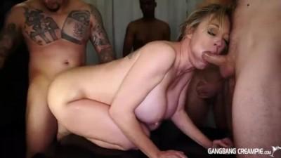 Gangbang Rough Sex & Creampie