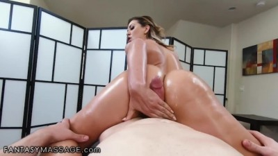Horny Mılf Cherie DeVille Rides Step Son's Best Friend Cock  - FantasyMassage