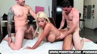 Big Tits Bridgette B Gets Banged Rough Threesome