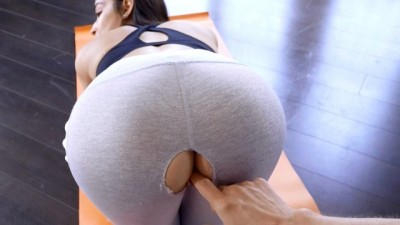 Emily Willis Step Sisters Ripped Yoga Pant
