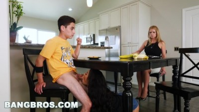 Step Sister dining table escape sex sister fuck