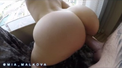 Bouncing her perfect ass on a big dick before getting creampie