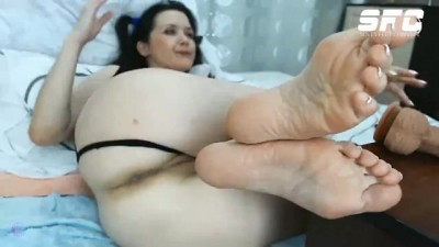 Brazil shows foot soles on webcam