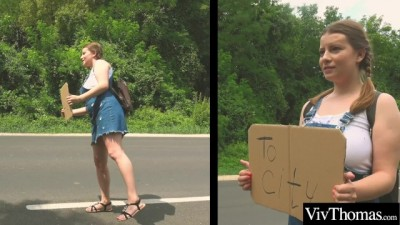 Voluptuous Lesbian Picks Up Sexy Hitch Hiker