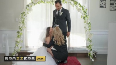 Husband and Bride to be get Shared by Hot Blonde
