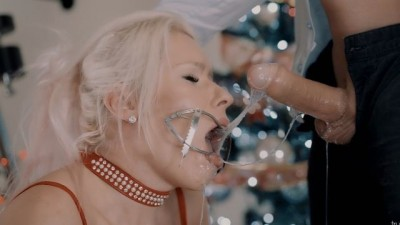 Extreme Sloppy Deepthroat in Tight Cuffs and Mouth Gag
