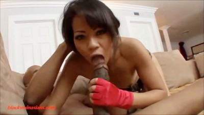 Asian Slut Gets Huge Big Black Dick Long Black Cock Plowed