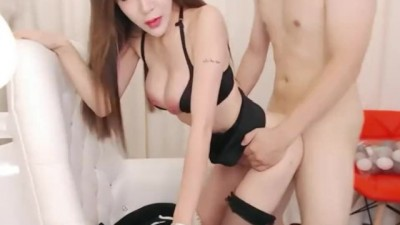 Asian Cam Girl UT Aicee Live Fuck in Flight Attendant Uniform