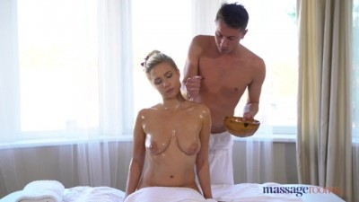 Beautiful German Blonde Deepthroat and Massage Sex