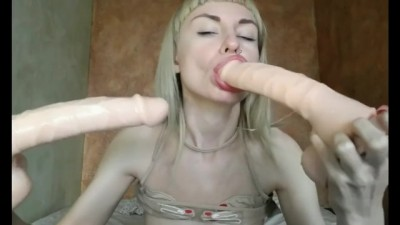 Huge Toys Deepthroat Compilation Blonde