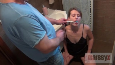 MarssyX - Tooth Cleaning, Cumshot and Piss