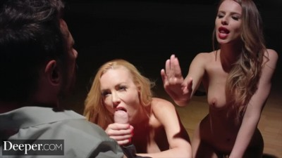 Kayden Kross and Jillian Janson Plays Games as he Watches